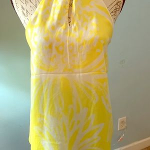 Lilly Pulitzer Yellow and white print top